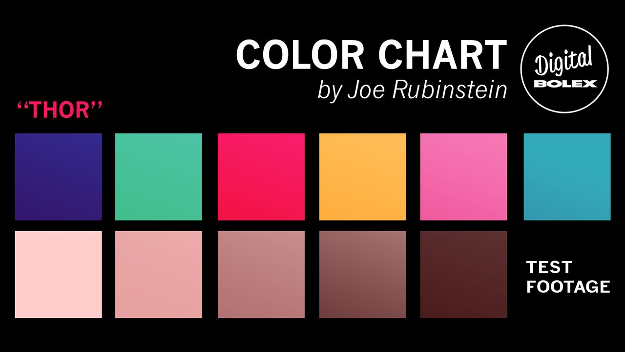 Test footage color chart digitalbolex nvjuhfo Image collections
