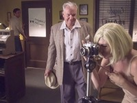 Marilyn takes a photo as her Producer arrives