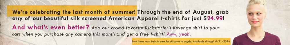 August T-Shirt Sale