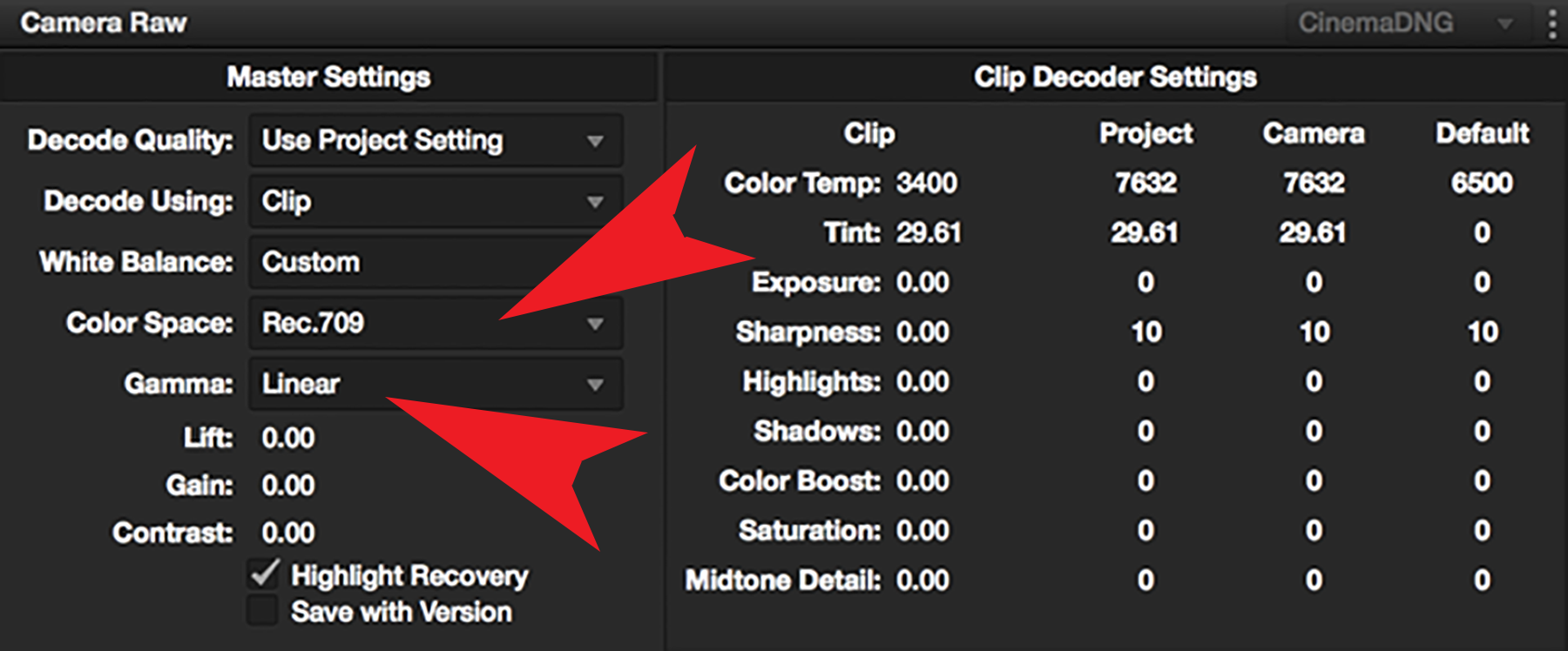 how to change white balance in resolv
